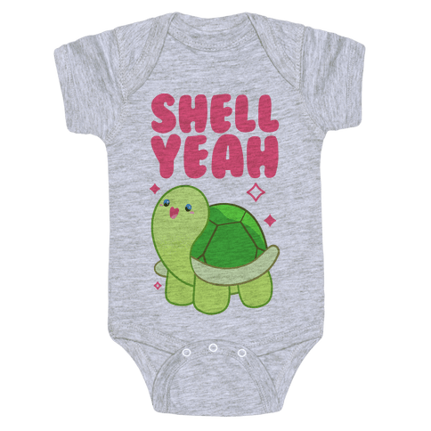 Shell Yeah Cute Turtle Baby Onesy