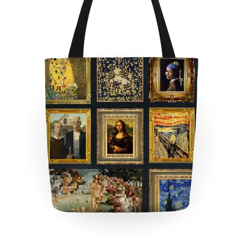 Pixel Classic Paintings Tote