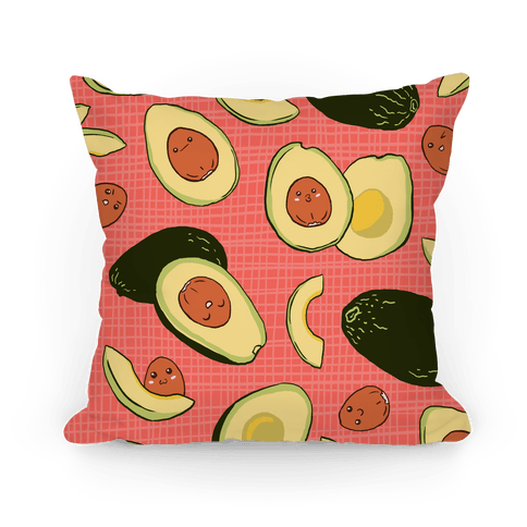 Adorable Kawaii Avocados Pillow