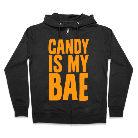 Candy is My Bae Zip Hoodie