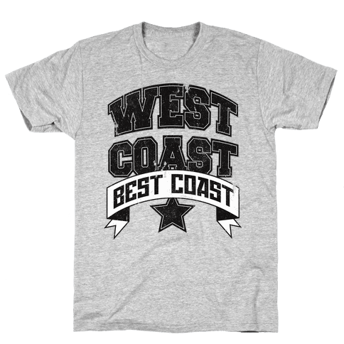 West Coast Best Coast (Tank) Mens T-Shirt