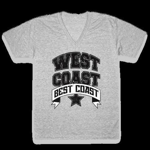 West Coast Best Coast (Tank) V-Neck Tee Shirt