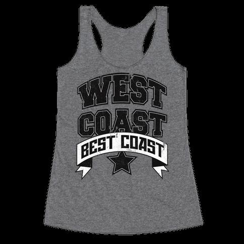 West Coast Best Coast (Tank) Racerback Tank Top