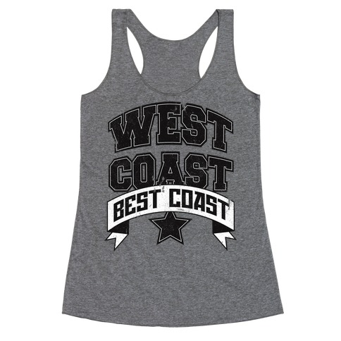 West Coast Best Coast (Tank) Racerback Tank Top