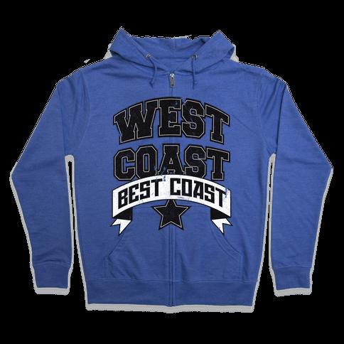 West Coast Best Coast (Tank) Zip Hoodie