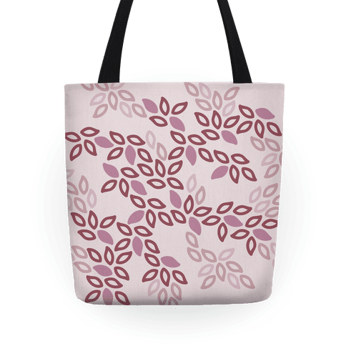 Fun Leaf Pattern Tote (Pink) Tote