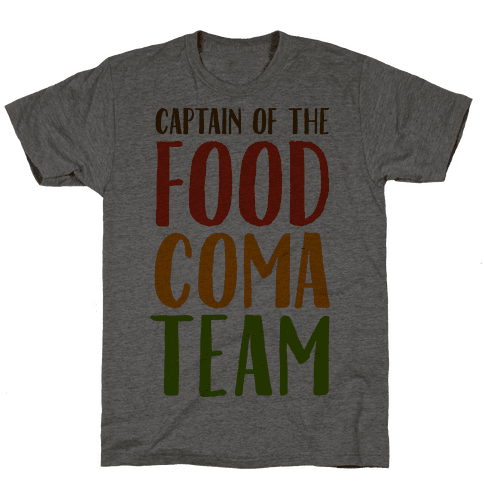 Captain of the Food Coma Team Mens T-Shirt