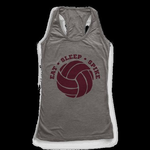 Eat Sleep Spike (Volleyball) Racerback Tank Top