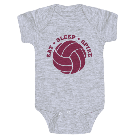 Eat Sleep Spike (Volleyball) Baby Onesy