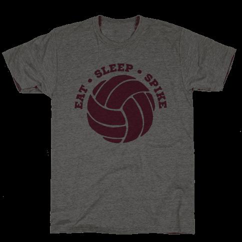 Eat Sleep Spike (Volleyball) Mens T-Shirt