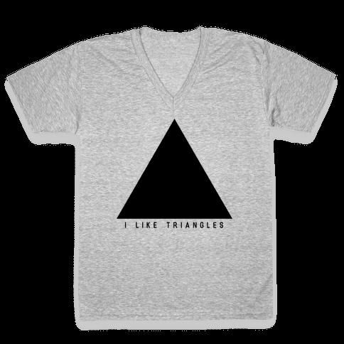 I Like Triangles V-Neck Tee Shirt
