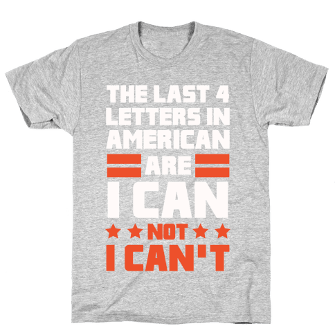 The Last 4 Letters In America Mens T-Shirt