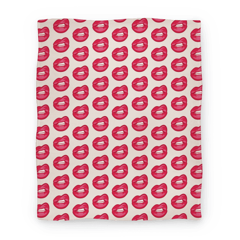 Lips Pattern Blanket