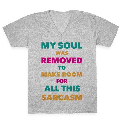 Sarcasm V-Neck Tee Shirt