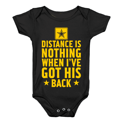 I've Got His Back (Army) Baby Onesy