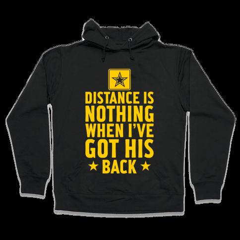 I've Got His Back (Army) Hooded Sweatshirt