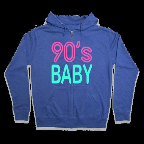 90's Baby Zip Hoodie