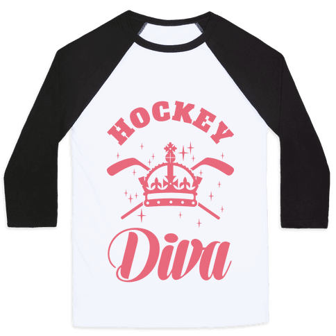 Hockey Diva Baseball Tee