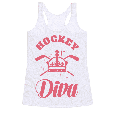 Hockey Diva Racerback Tank Top