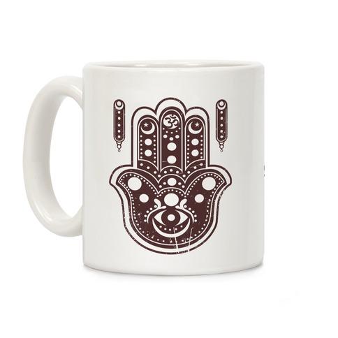 Namaste Hamsa Hand Coffee Mug