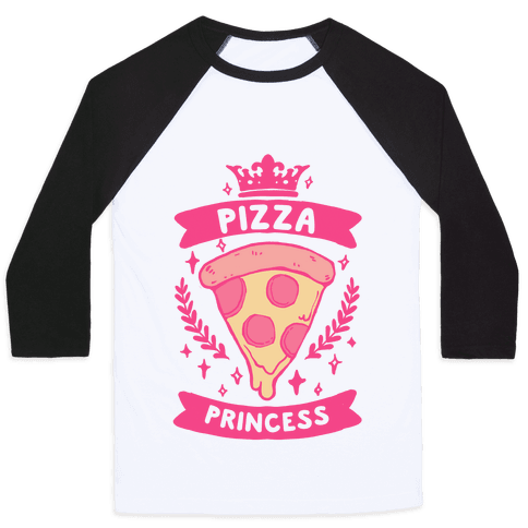Pizza Princess Baseball Tee