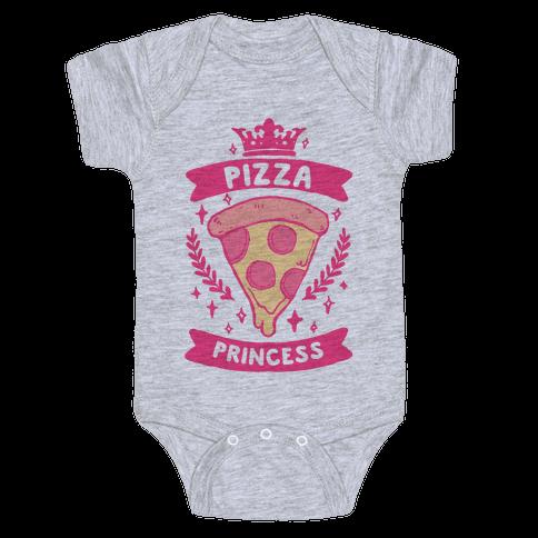 Pizza Princess Baby Onesy