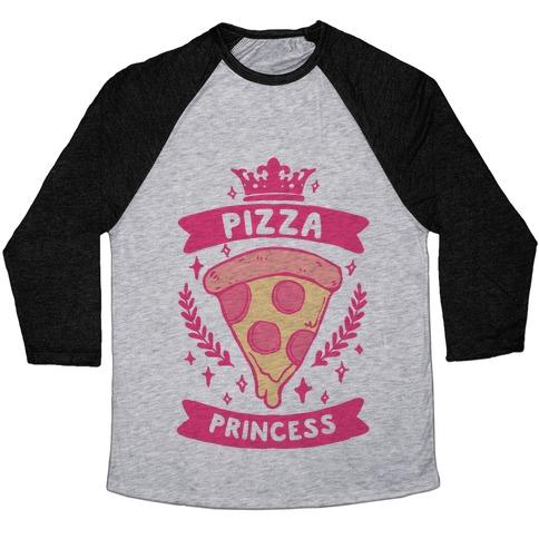 Pizza Princess Baseball Tee