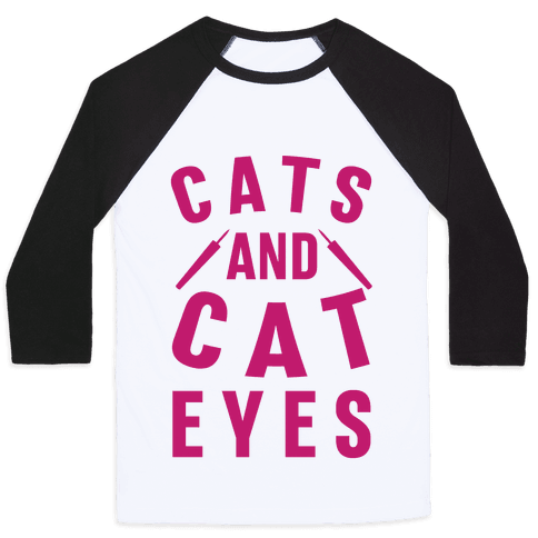 Cats and Cat Eyes Baseball Tee