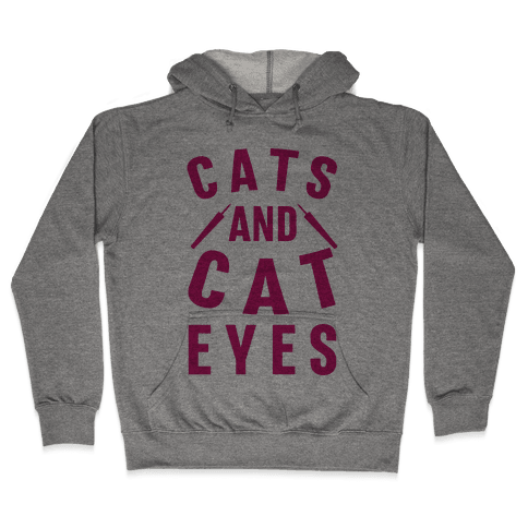 Cats and Cat Eyes Hooded Sweatshirt