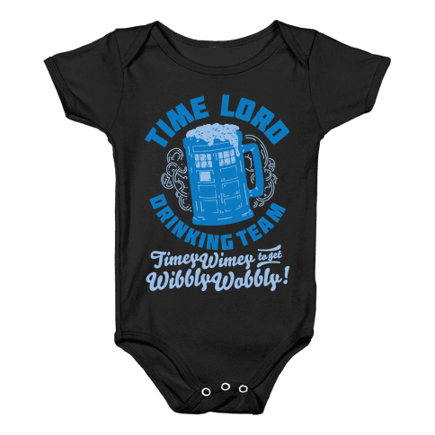 Time Lord Drinking Team Baby Onesy