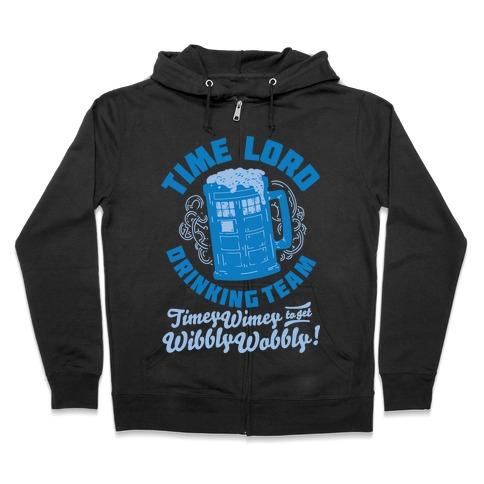 Time Lord Drinking Team Zip Hoodie