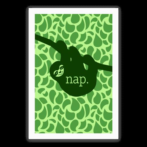 Sloth Nap Poster