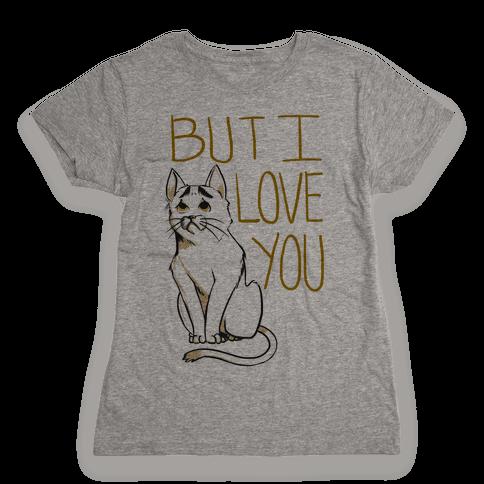 Eyebrows Cat- I love you! Womens T-Shirt