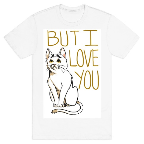 Eyebrows Cat- I love you! Mens T-Shirt