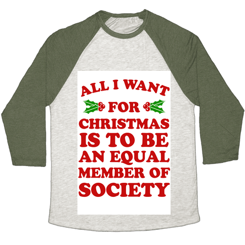 What I want for Christmas Baseball Tee