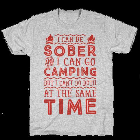 Sober Camping Mens T-Shirt