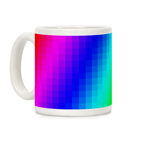 Rainbow Pixel Mug Coffee Mug