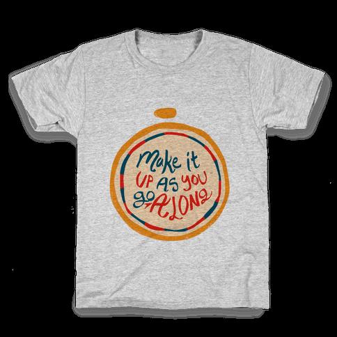 Make it Up as You Go Along Life Compass Kids T-Shirt