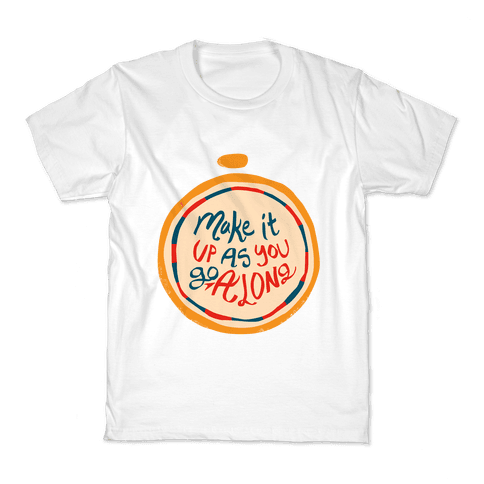 Make it Up as You Go Along Life Compass Kids T-Shirt