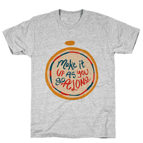Make it Up as You Go Along Life Compass Mens T-Shirt