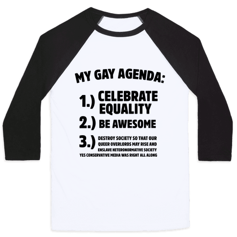 My Gay Agenda Baseball Tee