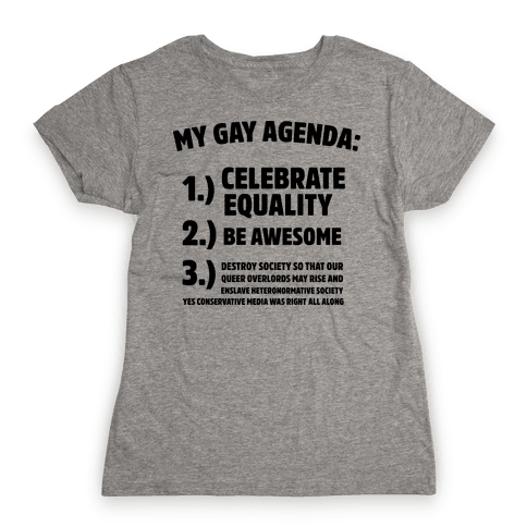 My Gay Agenda Womens T-Shirt