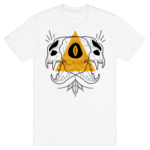 Double Cat Skulls Mens T-Shirt