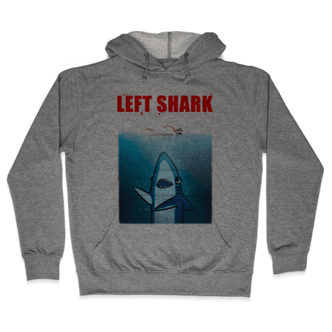Left Shark Jaws Parody Hooded Sweatshirt