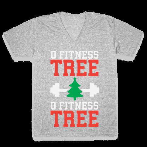 O Fitness Tree, O Fitness Tree V-Neck Tee Shirt