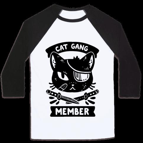 Cat Gang Member Baseball Tee