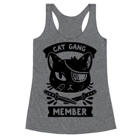 Cat Gang Member Racerback Tank Top