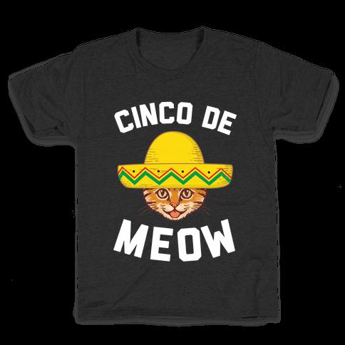 Cinco De Meow Kids T-Shirt