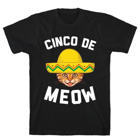 Cinco De Meow Mens T-Shirt