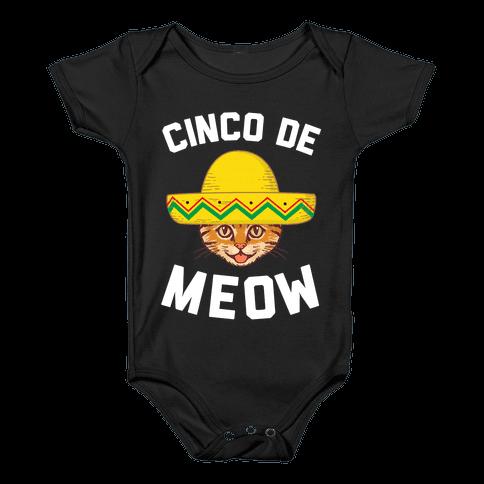 Cinco De Meow Baby Onesy